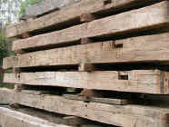 Antique Mixed Hardwoods - hewn frame timbers